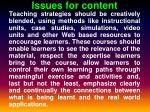 issues for content