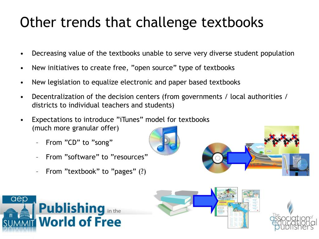 Decreasing value of the textbooks unable to serve very diverse student population