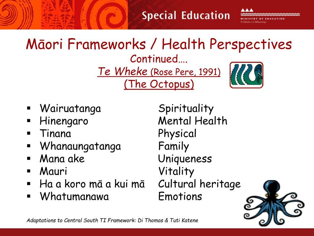 Māori Frameworks / Health Perspectives
