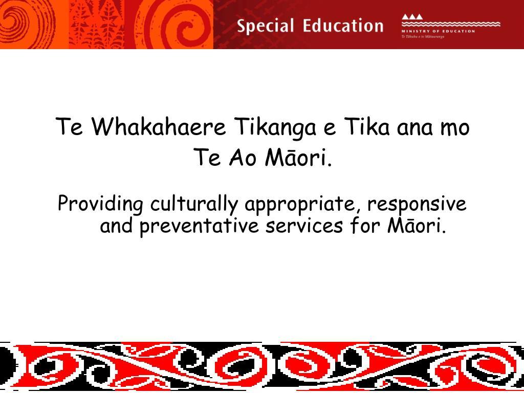 Te Whakahaere Tikanga e Tika ana mo
