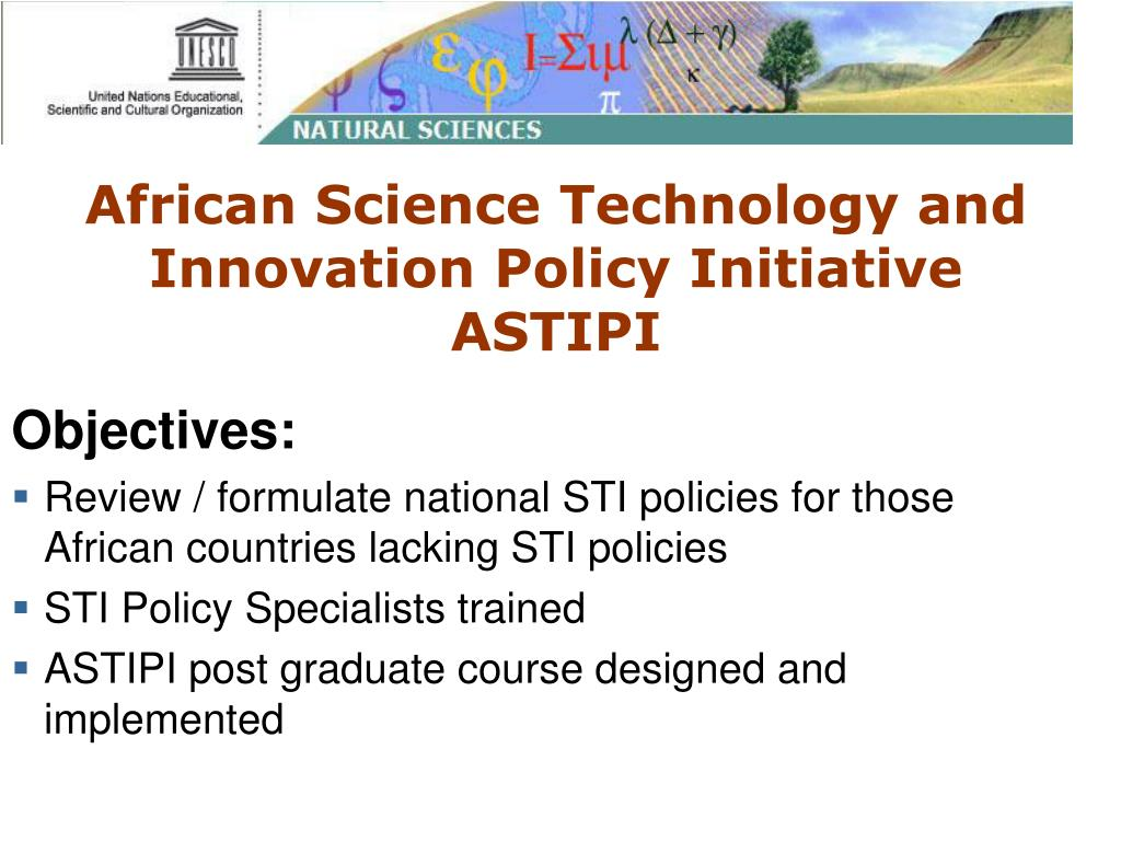 African Science Technology and Innovation Policy Initiative ASTIPI