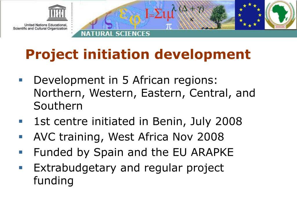 Project initiation development