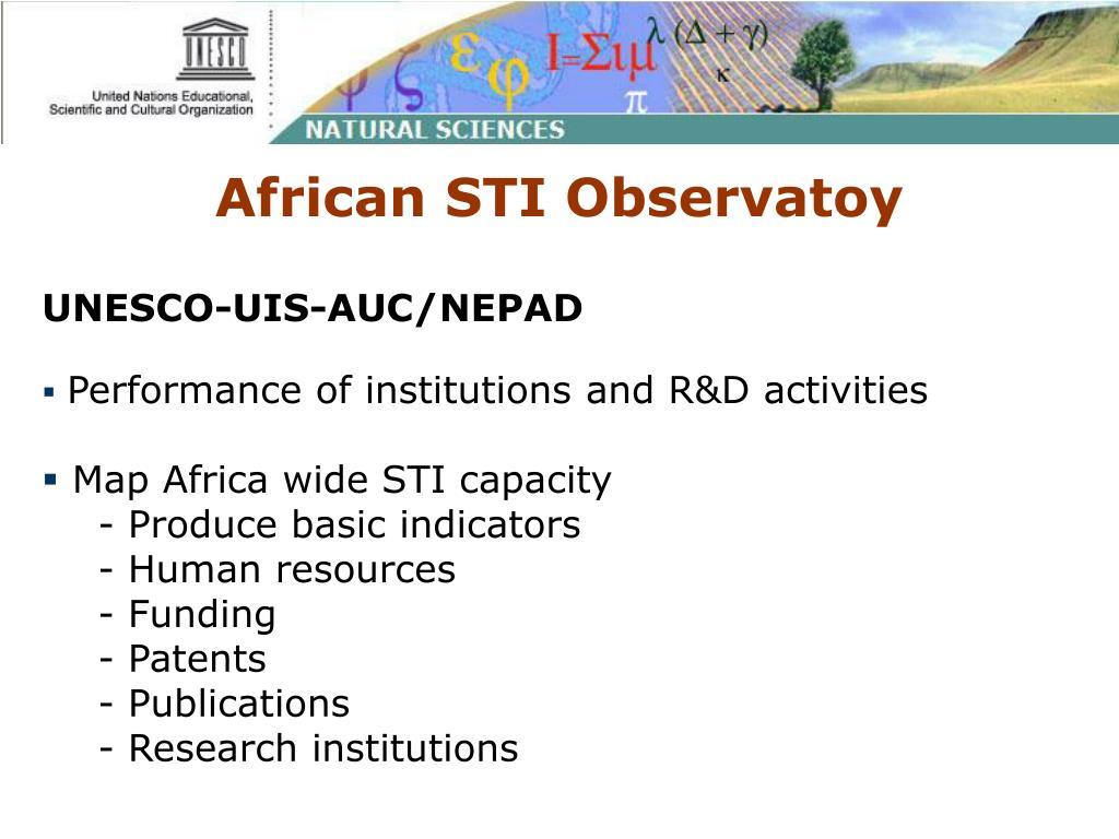 African STI Observatoy