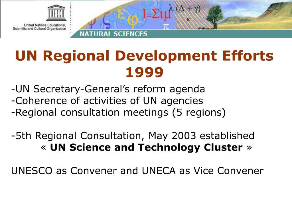 UN Regional Development Efforts