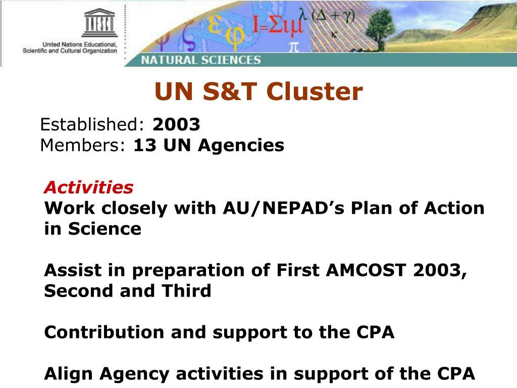 UN S&T Cluster