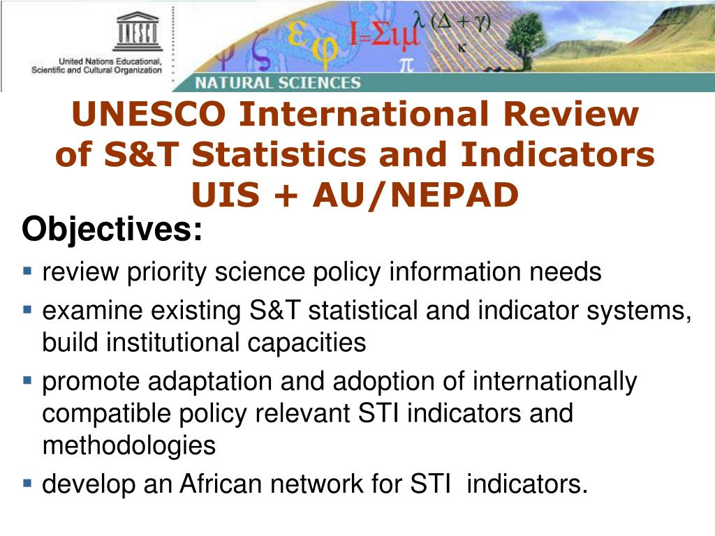 UNESCO International Review of S&T Statistics and Indicators