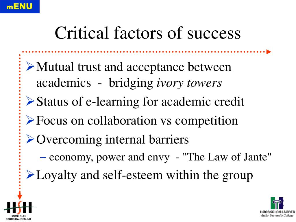 Mutual trust and acceptance between academics  -  bridging