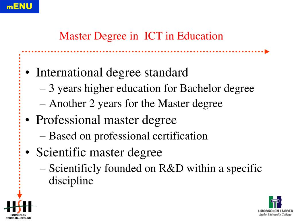 International degree standard