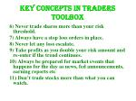key concepts in traders toolbox