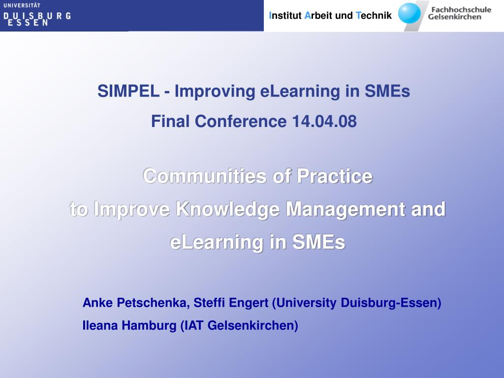 SIMPEL - Improving eLearning in SMEs