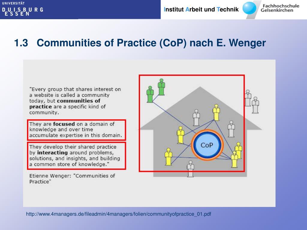 1.3   Communities of Practice (CoP) nach E. Wenger