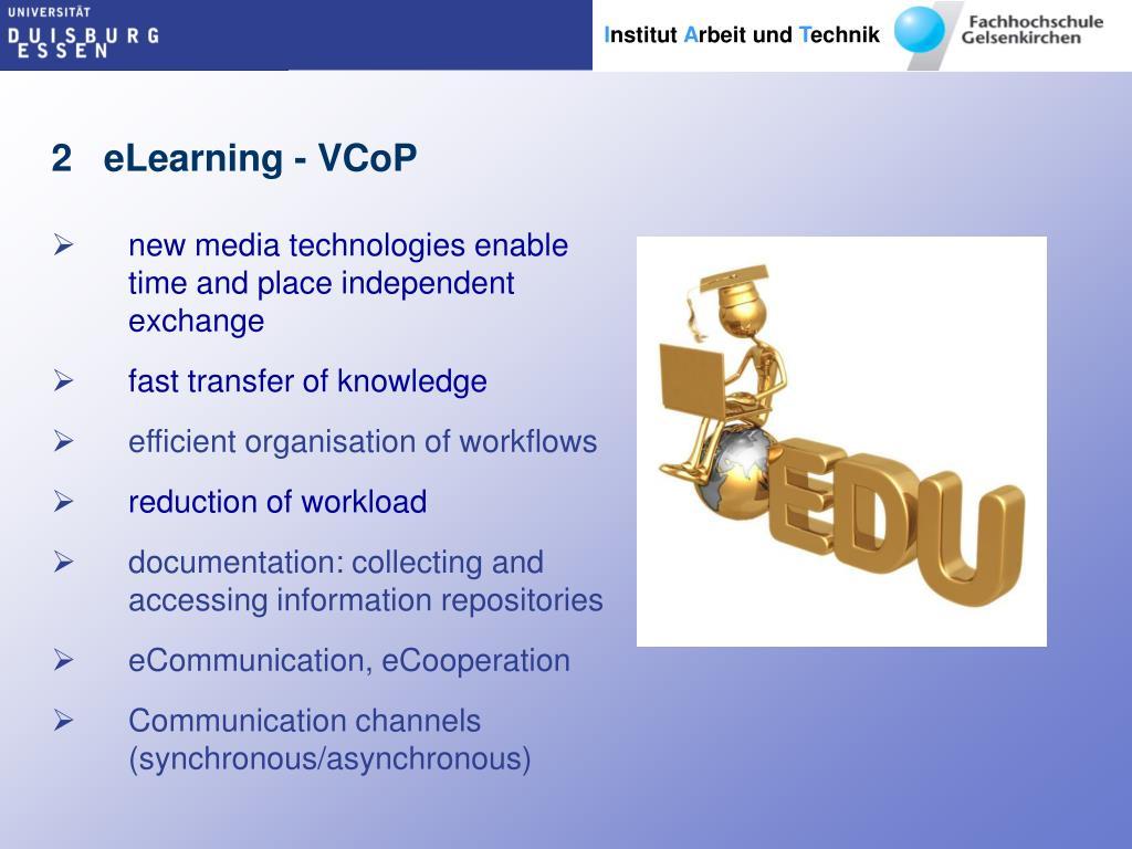 2   eLearning - VCoP
