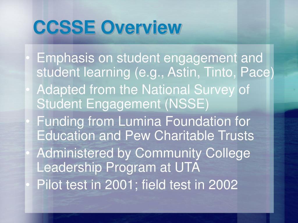 CCSSE Overview