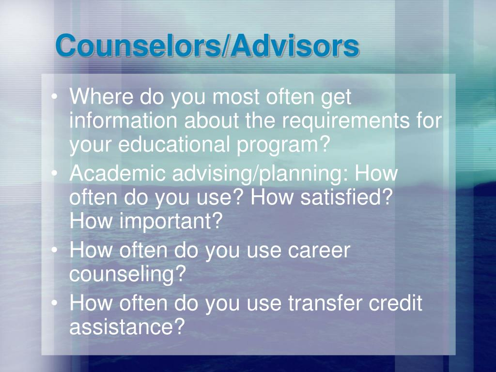 Counselors/Advisors