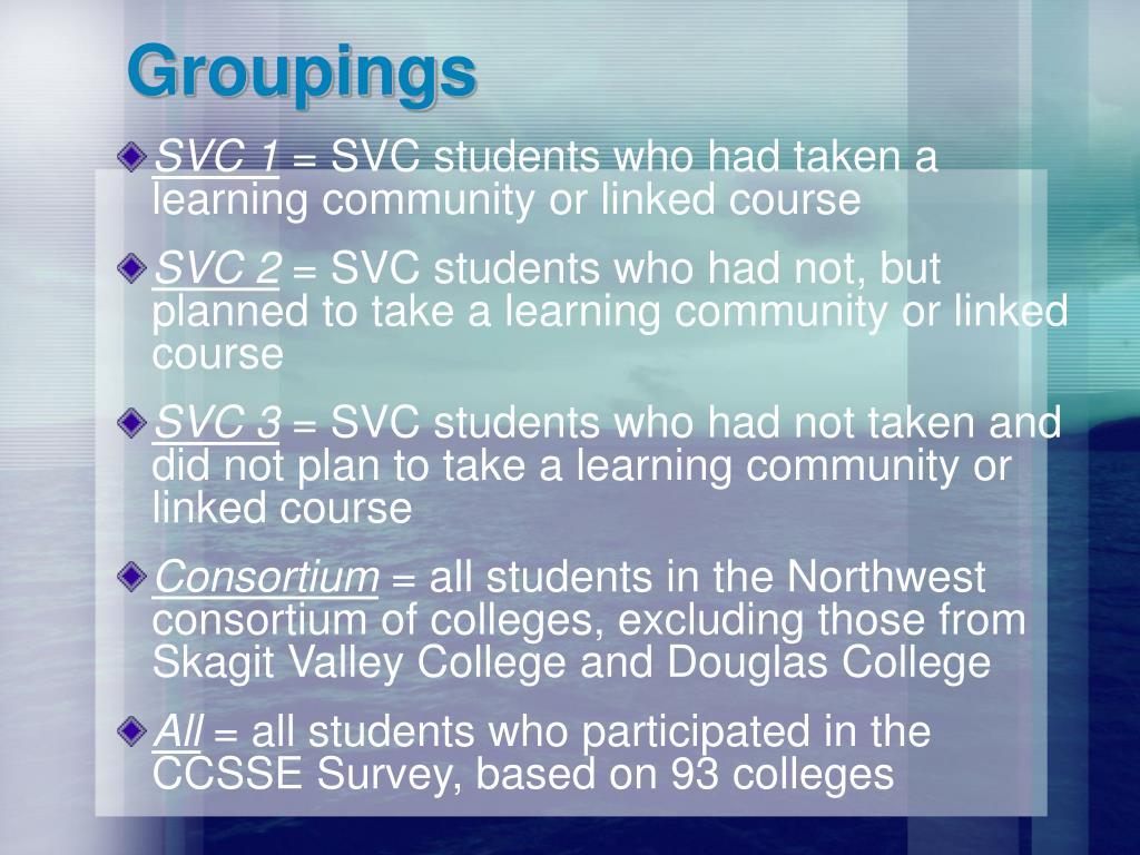 Groupings