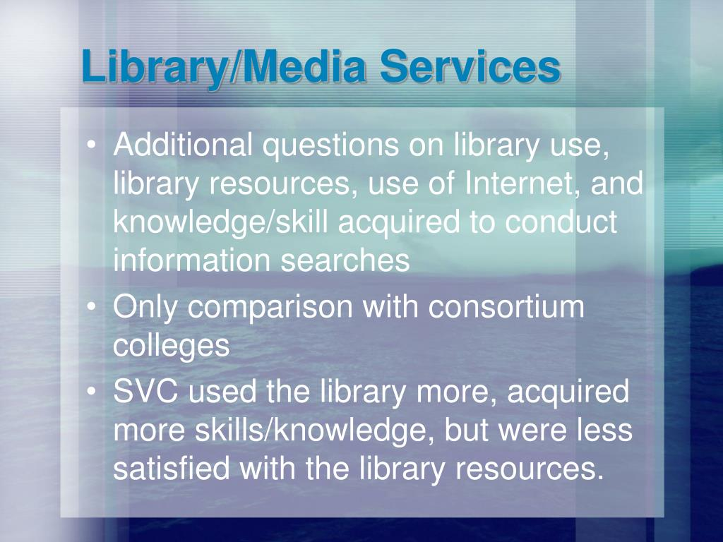 Library/Media Services