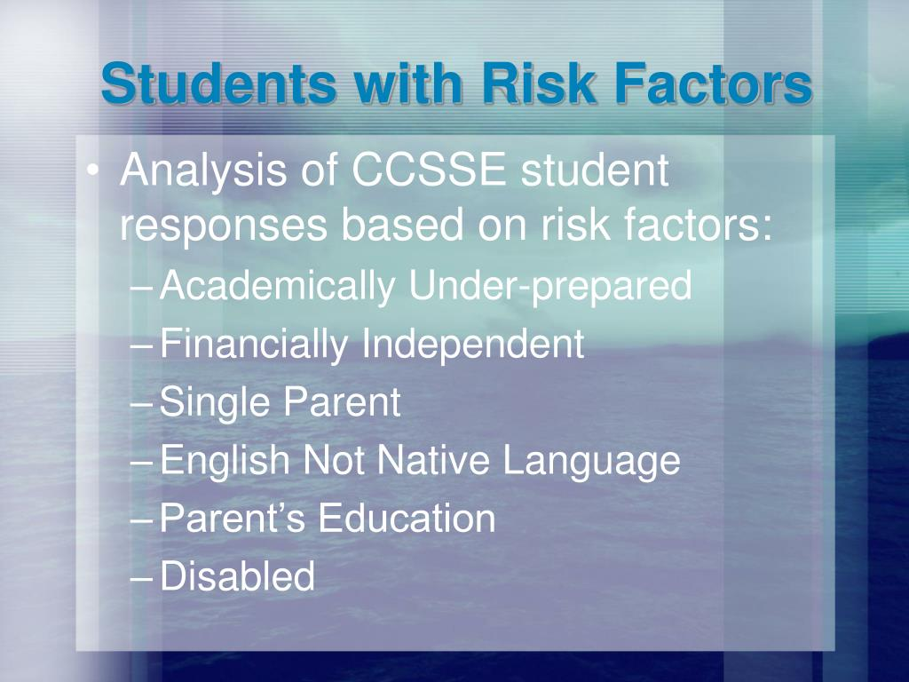 Students with Risk Factors