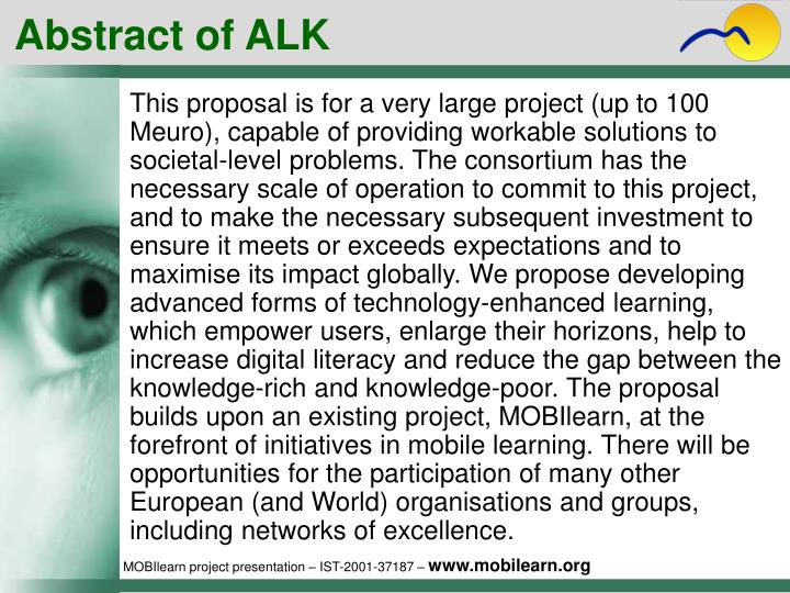 Abstract of ALK
