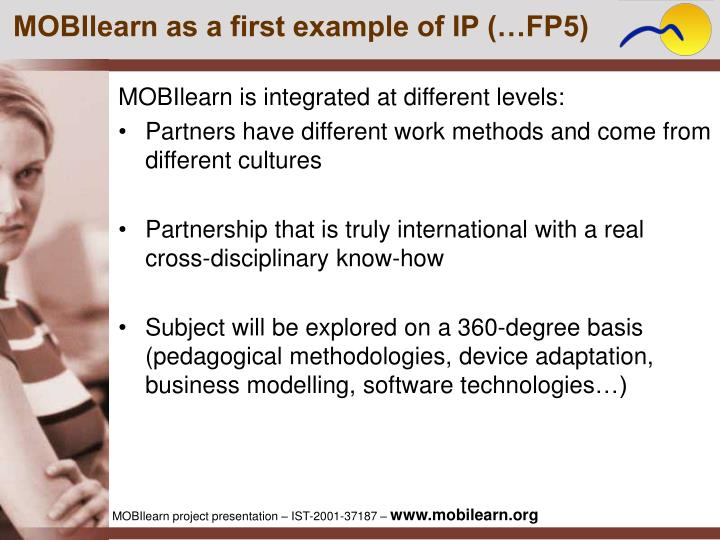 MOBIlearn as a first example of IP (…FP5)