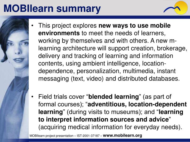 MOBIlearn summary