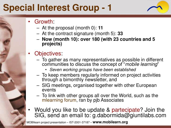 Special Interest Group - 1