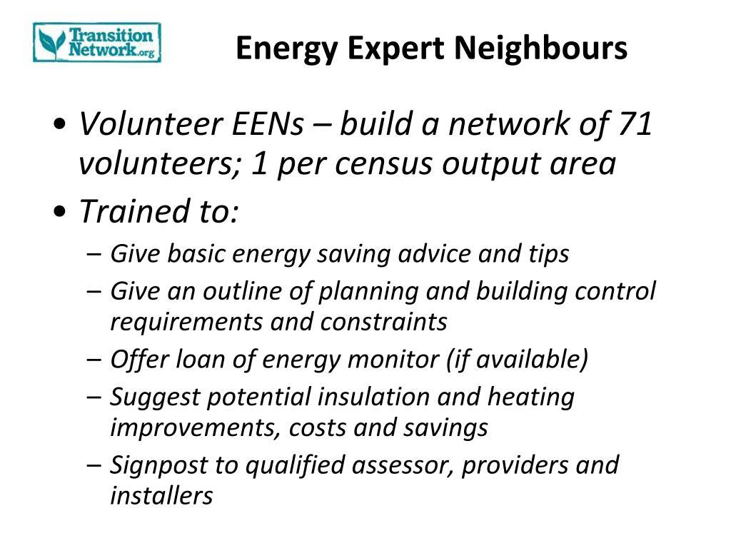 Energy Expert Neighbours