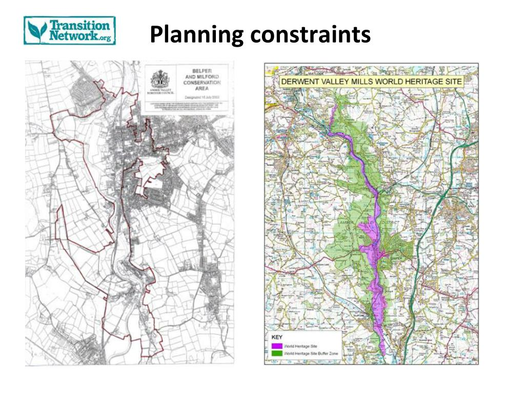 Planning constraints