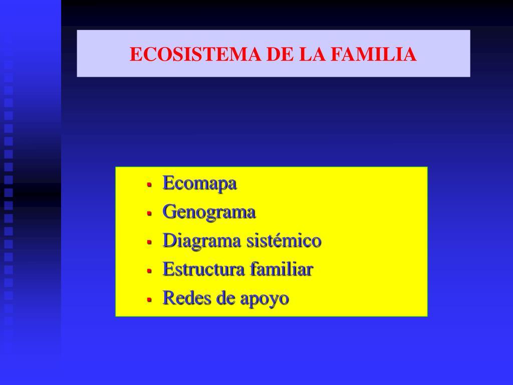 ECOSISTEMA DE LA FAMILIA