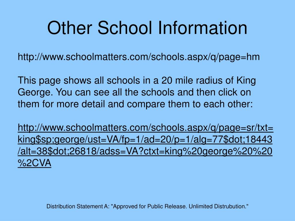 Other School Information