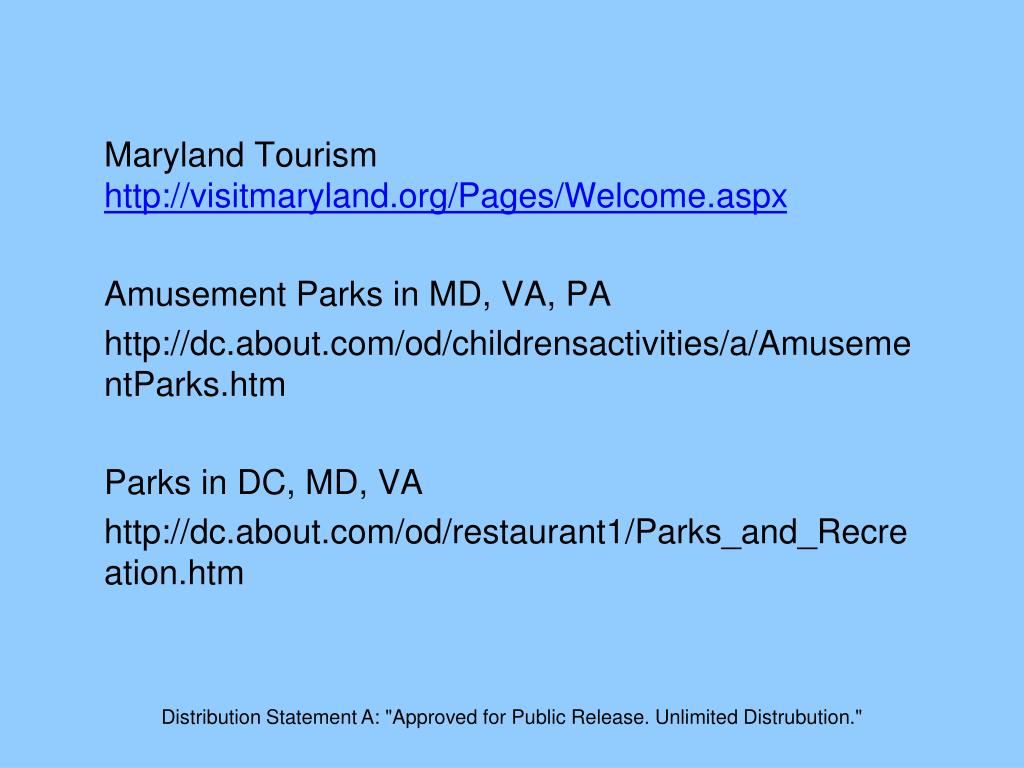 Maryland Tourism