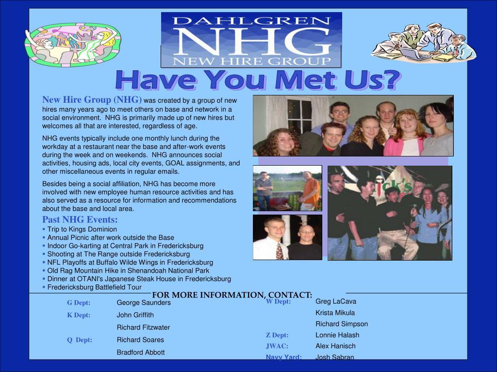 Have You Met Us?