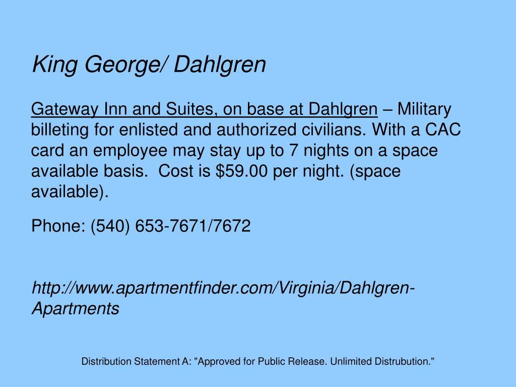 King George/ Dahlgren