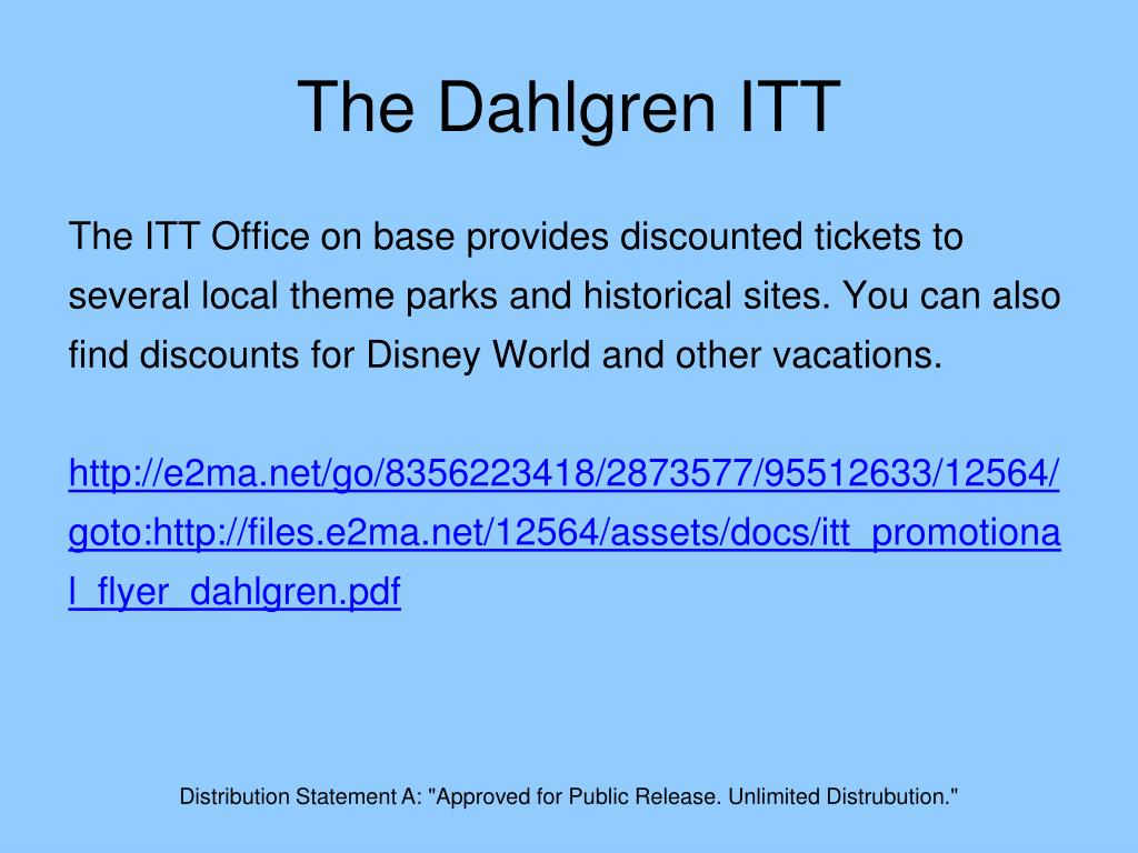 The Dahlgren ITT