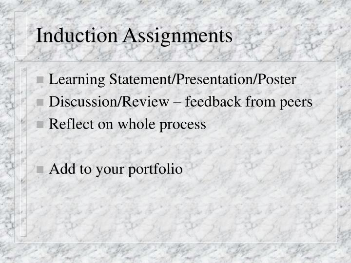 Induction Assignments