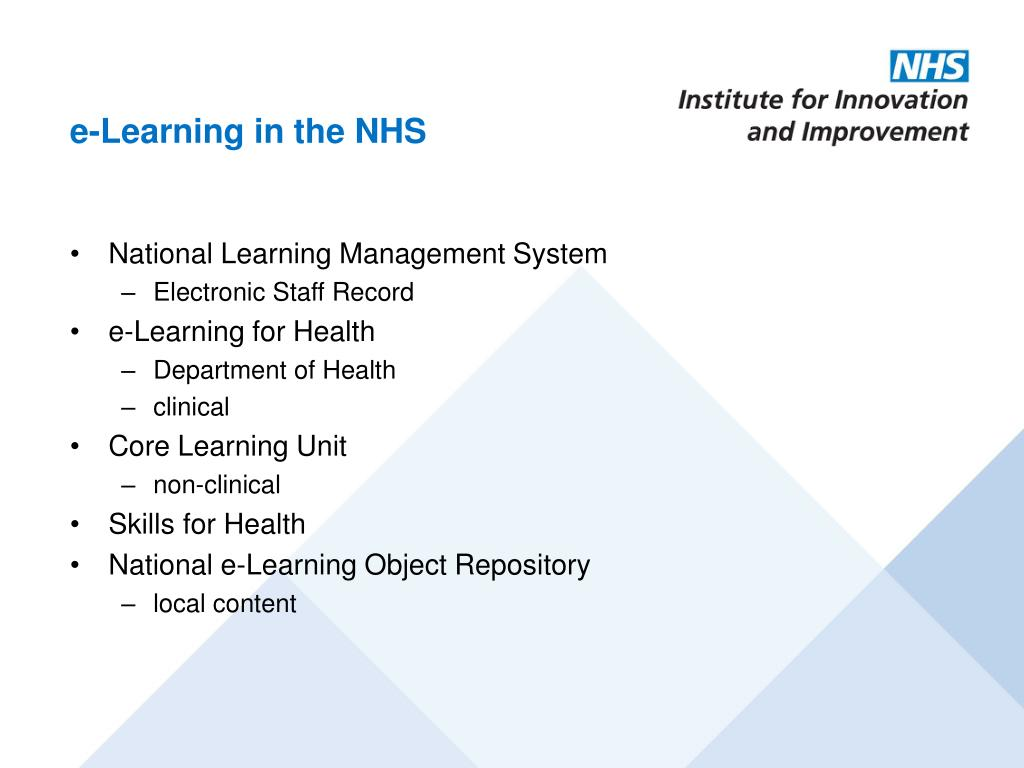 e-Learning in the NHS