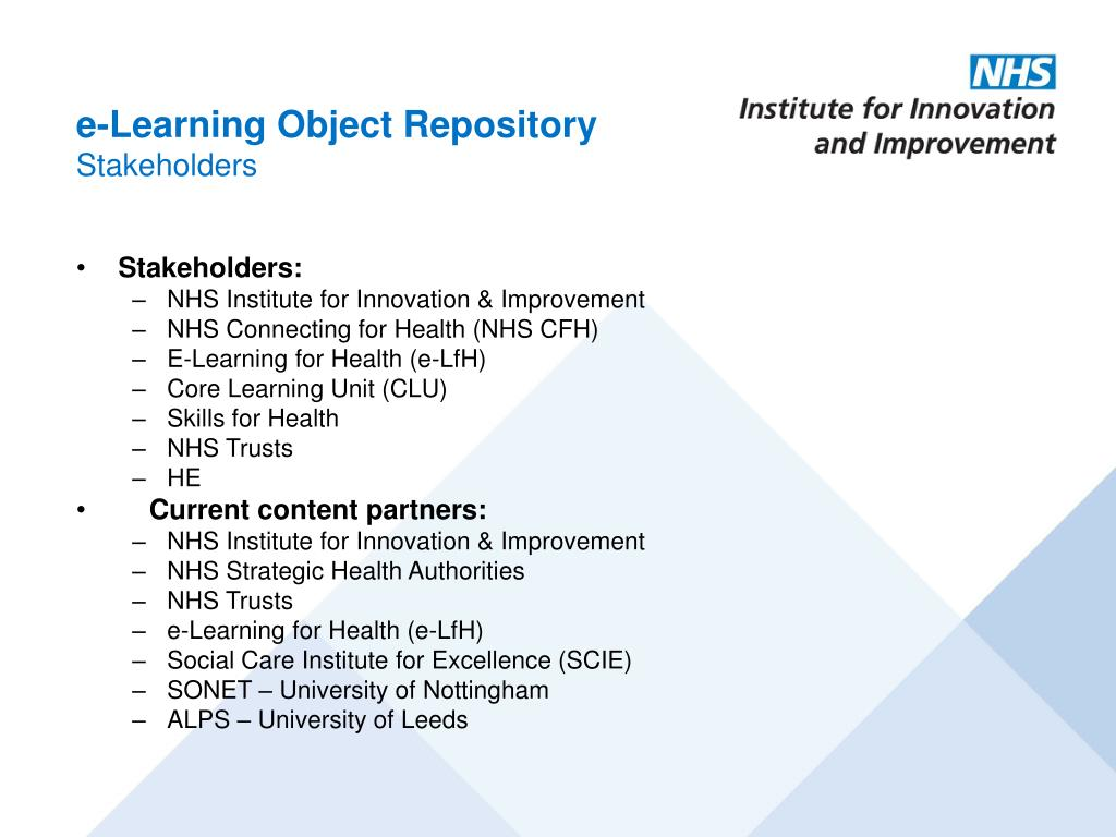 e-Learning Object Repository