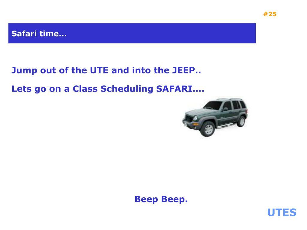 Safari time…