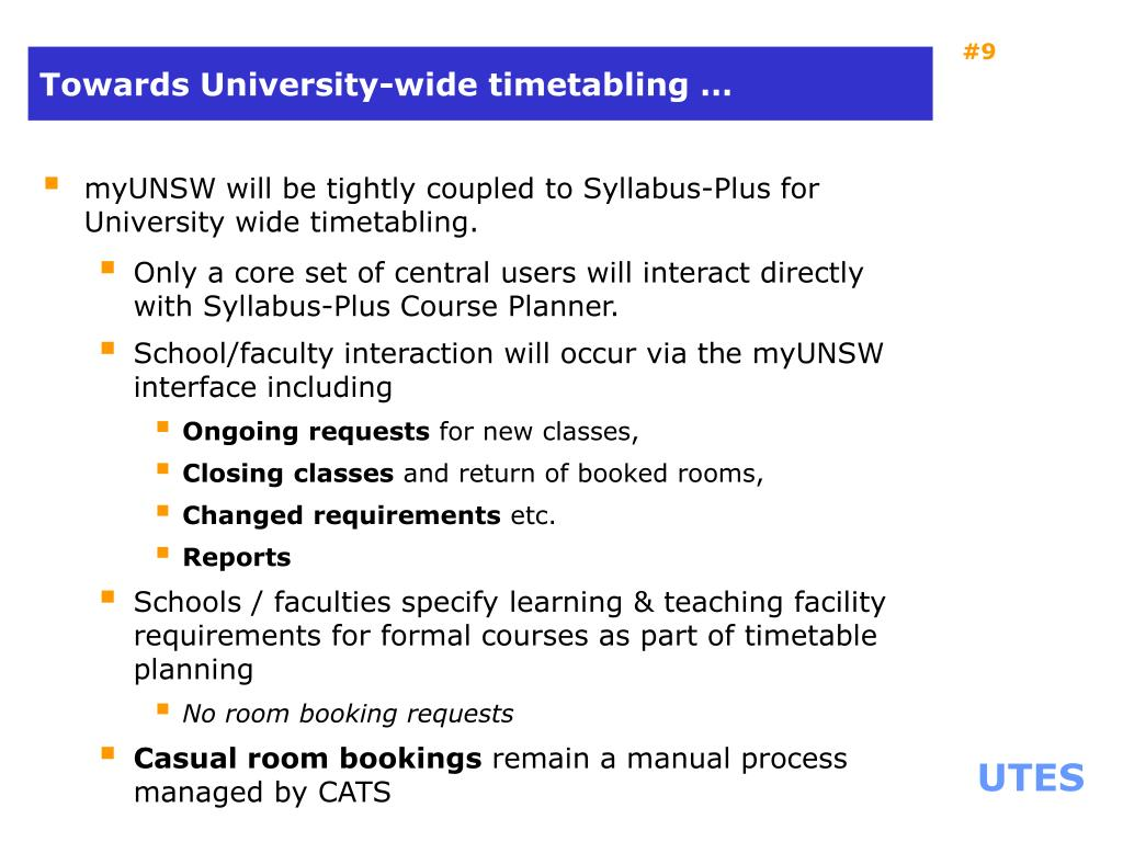 Towards University-wide timetabling …