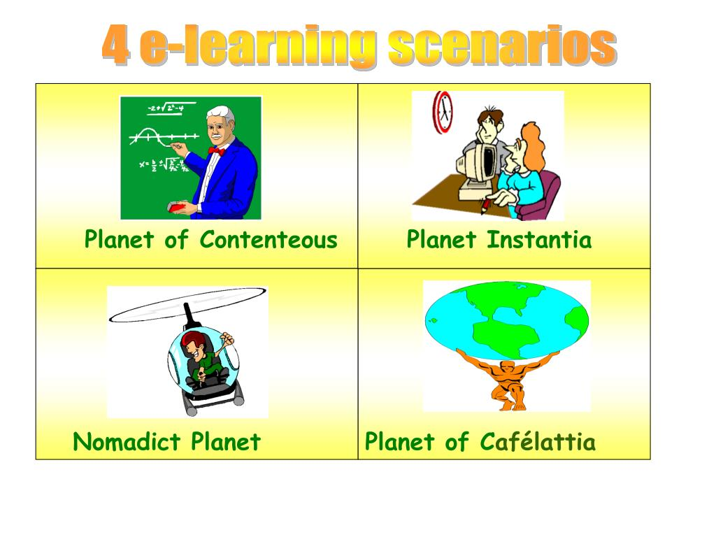 4 e-learning scenarios