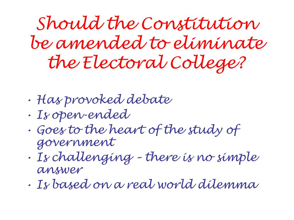 Should the Constitution