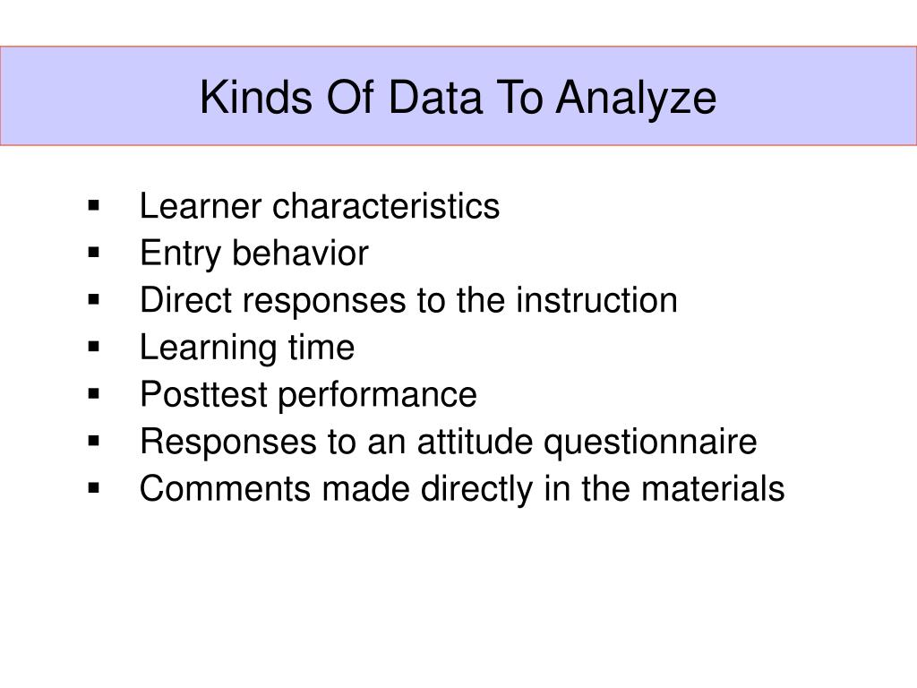 Kinds Of Data To Analyze