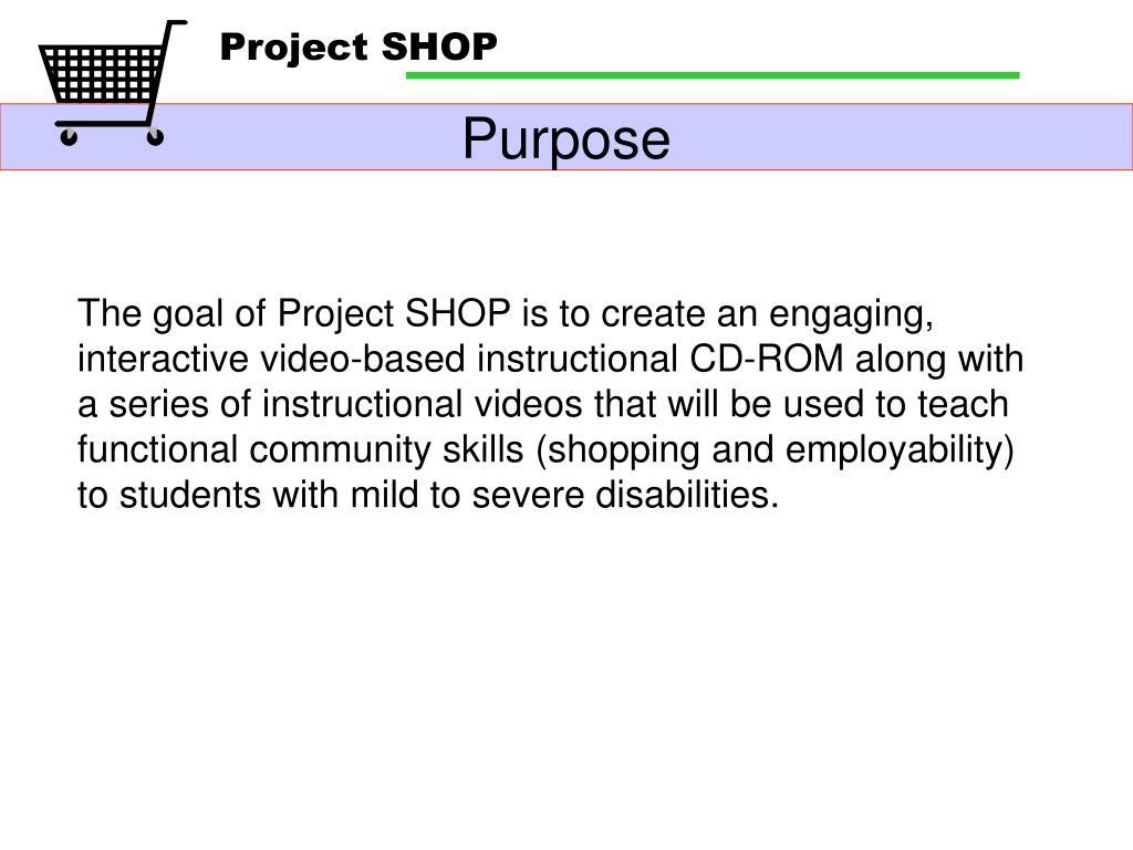 Project SHOP