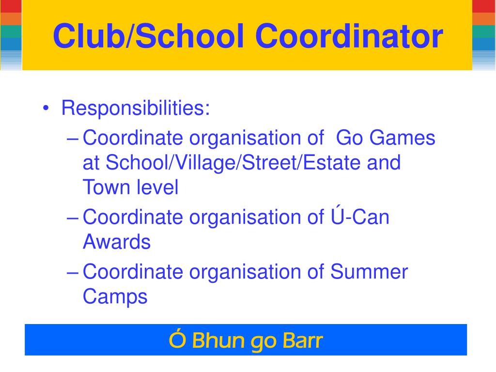 Club/School Coordinator
