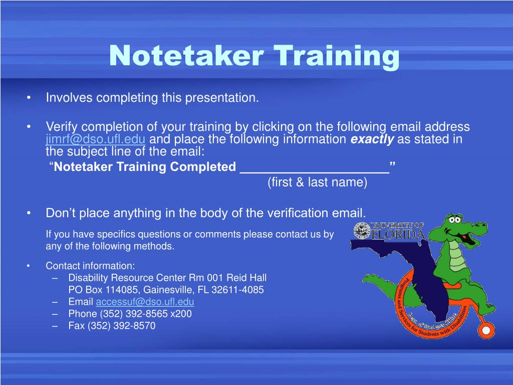 Notetaker Training