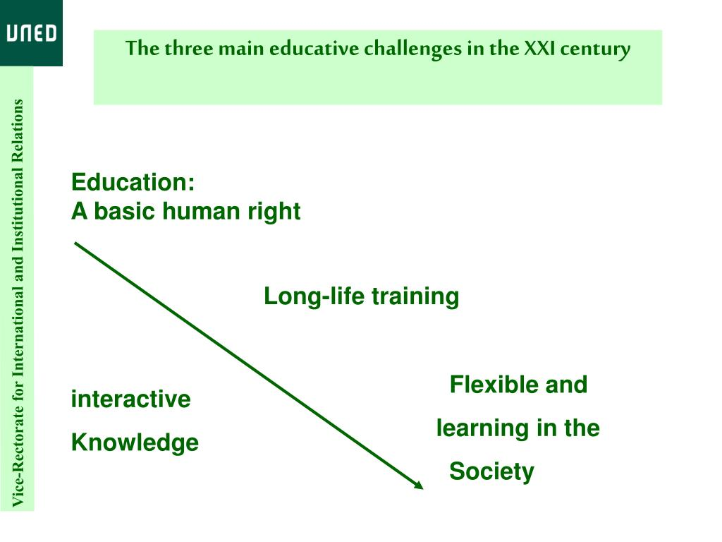 The three main educative challenges in the XXI century