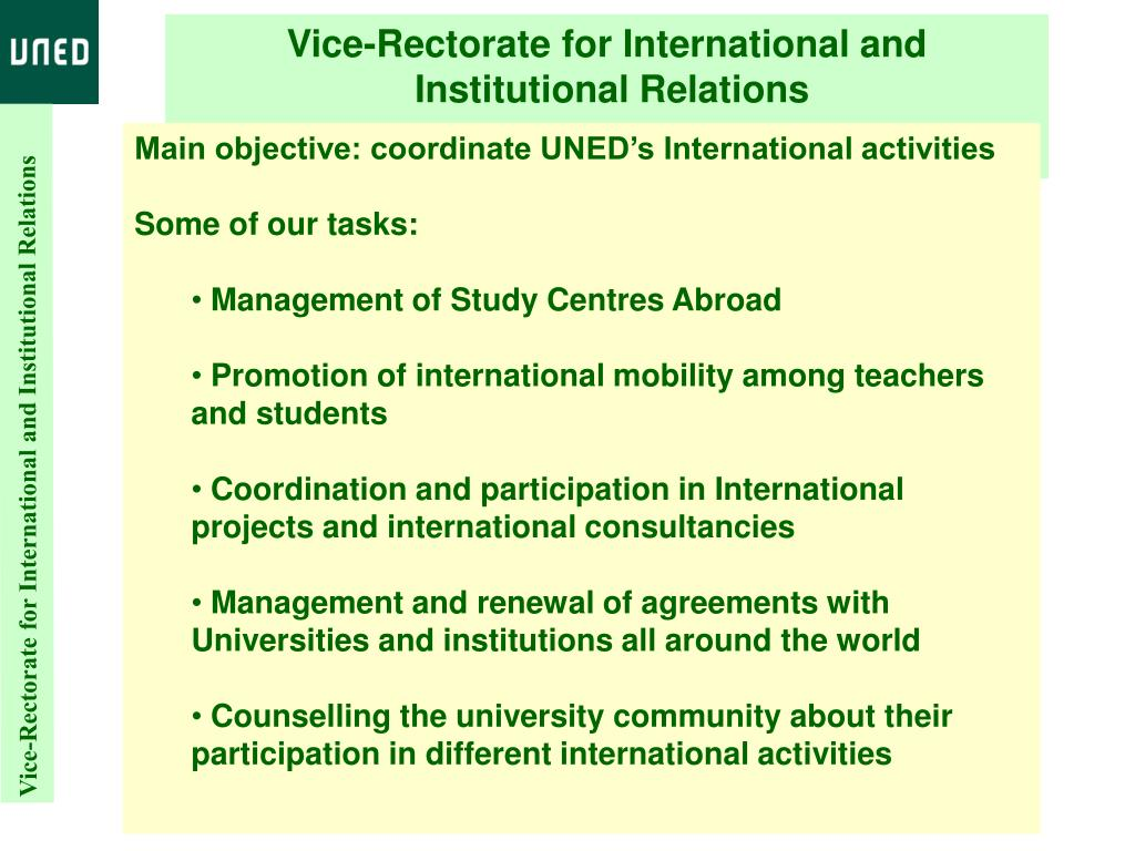 Vice-Rectorate for International and