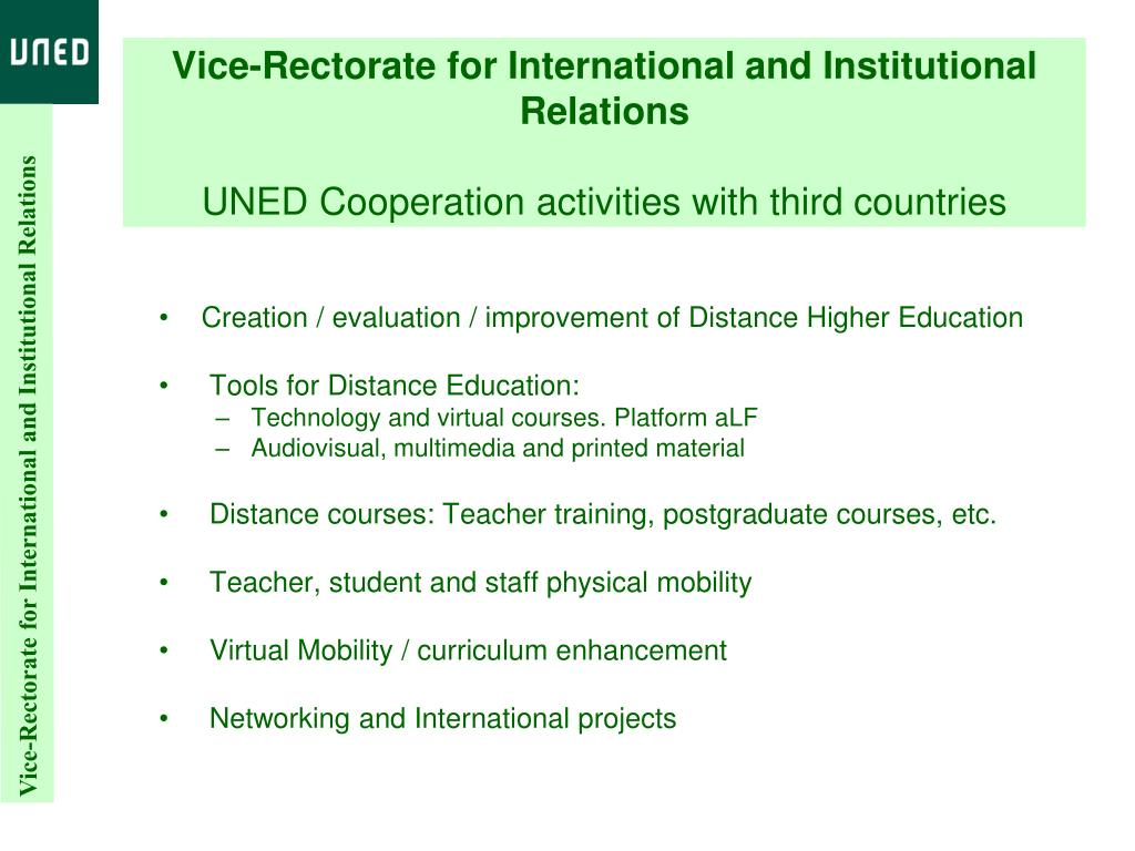 Vice-Rectorate for International and Institutional Relations