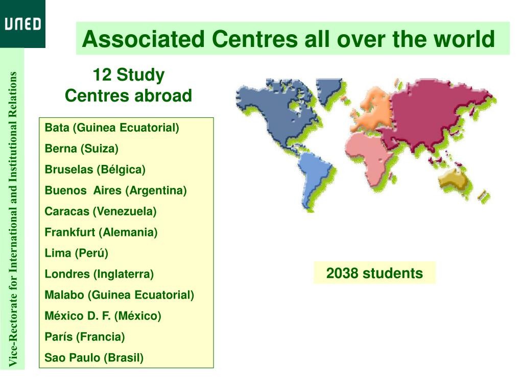 Associated Centres all over the world