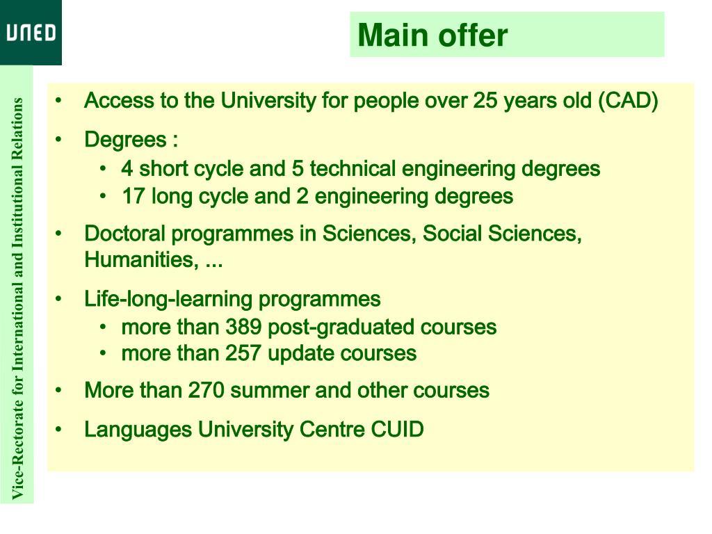 Main offer