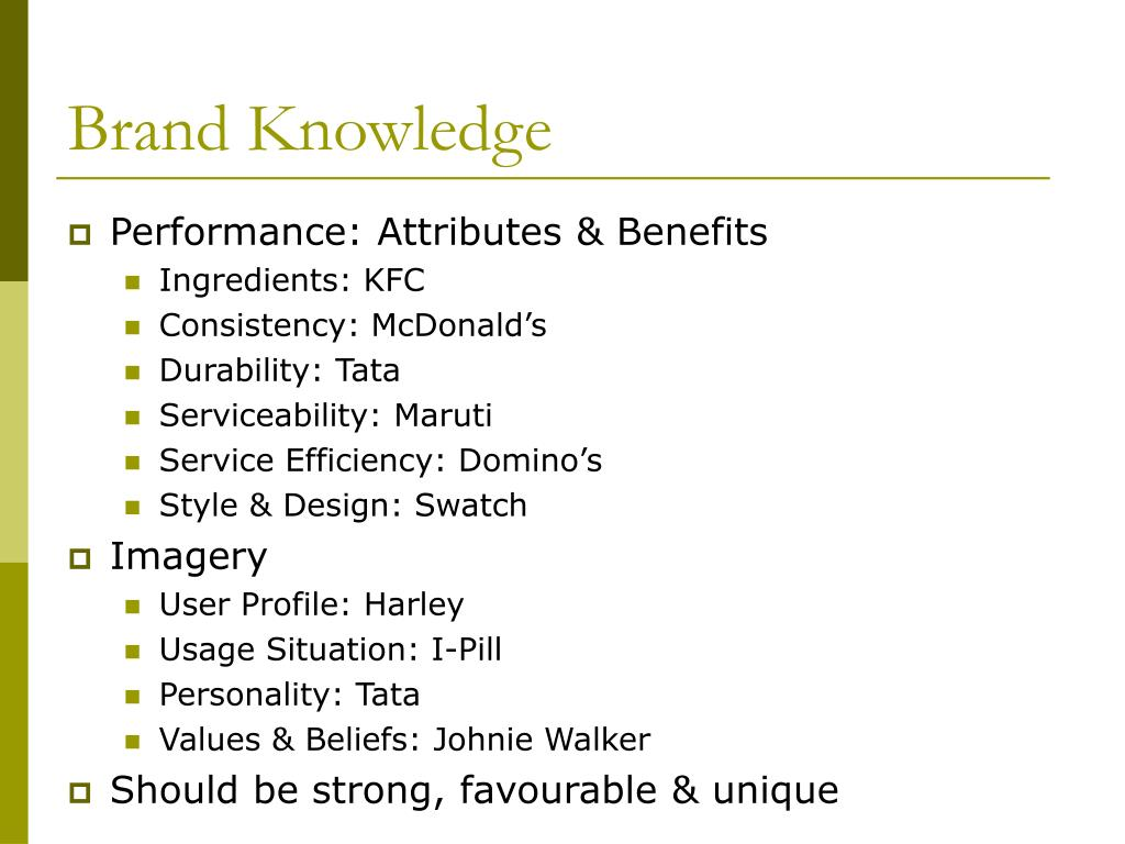 Brand Knowledge